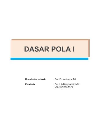 Dasar Pola 1