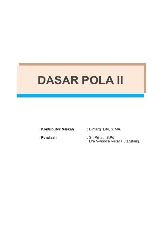 Dasar Pola 2