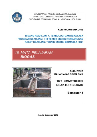 Konstruksi Reaktor Biogas