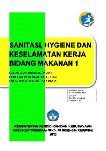 Sanitasi, Hygiene dan Keselamatan Kerja Bidang Makanan 1