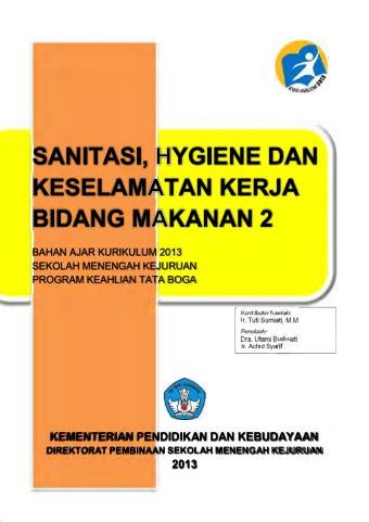 Sanitasi, Hygiene dan Keselamatan Kerja Bidang Makanan 2