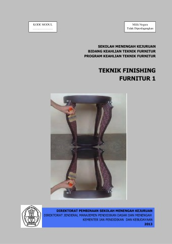 Teknik Finishing Furnitur 1