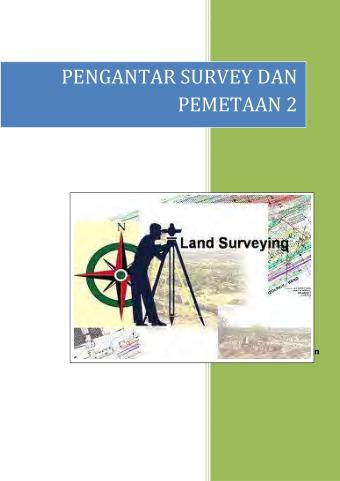 Pengantar Survey dan Pemetaan 2