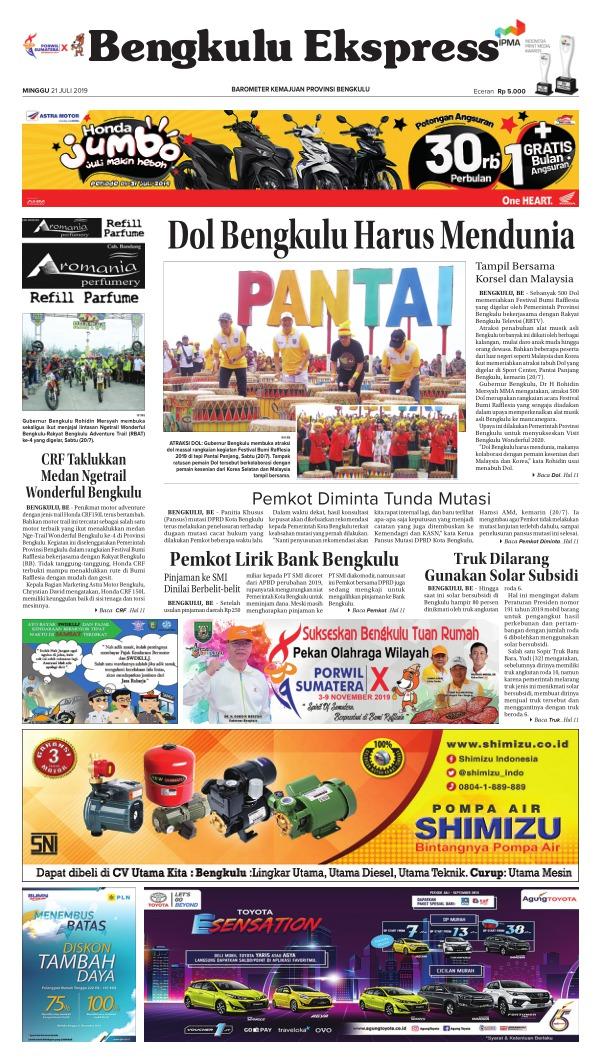 Koran Bengkulu Ekspres - Edisi 21 Juli 2019