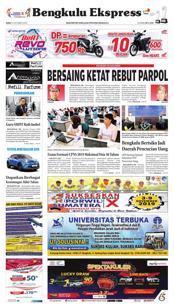 Koran Bengkulu Ekspres - Edisi 9 Oktober 2019