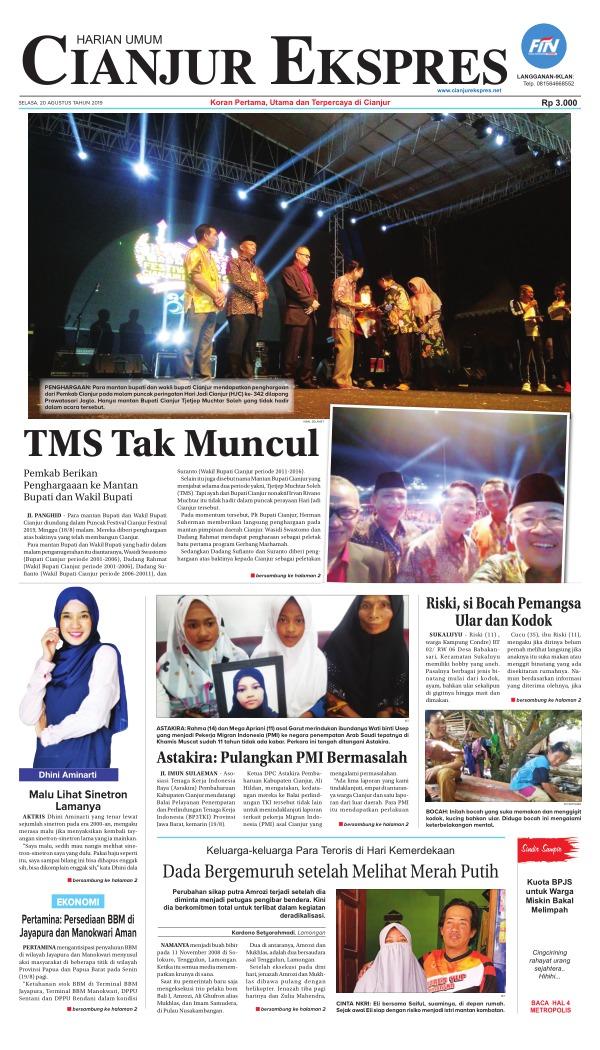 Koran Cianjur Ekspres - Edisi 20 Agustus 2019