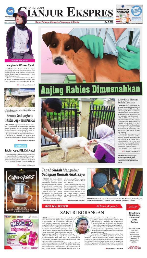 Koran Cianjur Ekspres - Edisi 11 Oktober 2019
