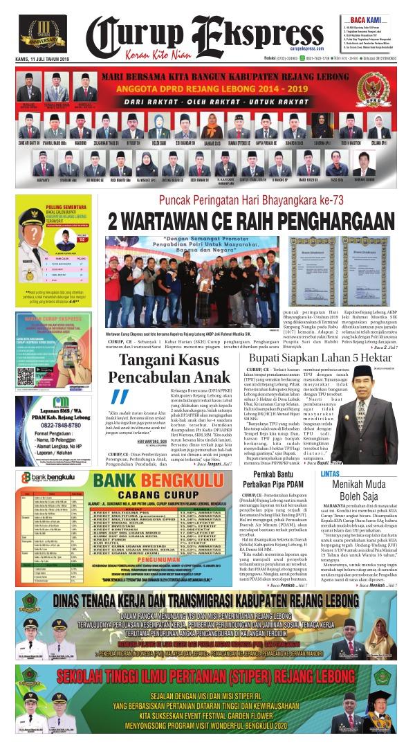 Koran Curup Ekspress - Edisi 11 Juli 2019