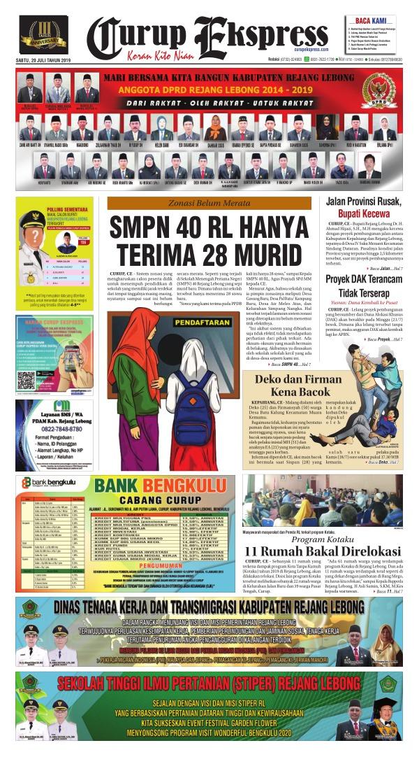Koran Curup Ekspress - Edisi 20 Juli 2019
