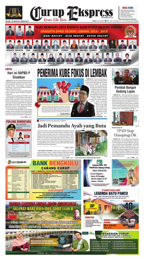 Koran Curup Ekspress - Edisi 20 Agustus 2019