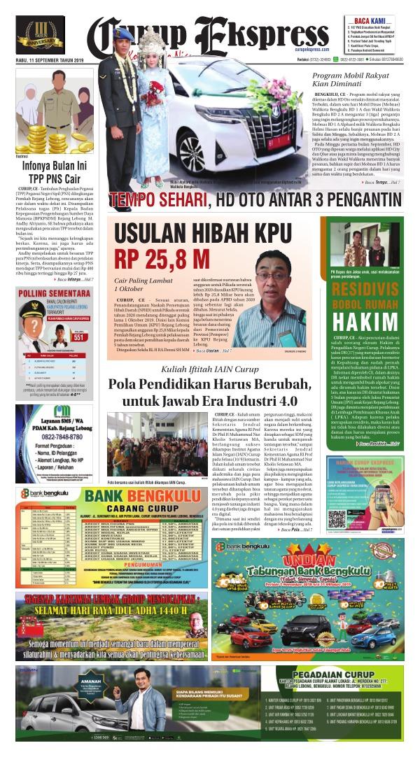 Koran Curup Ekspress - Edisi 11 September 2019