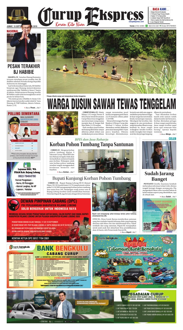 Koran Curup Ekspress - Edisi 13 September 2019