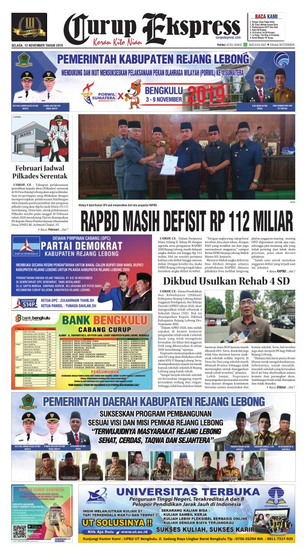Koran Curup Ekspress - Edisi 12 November 2019
