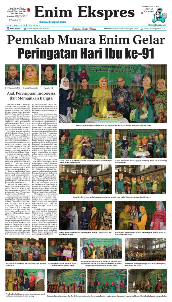 Koran Enim Ekspres - Edisi 13 Desember 2019