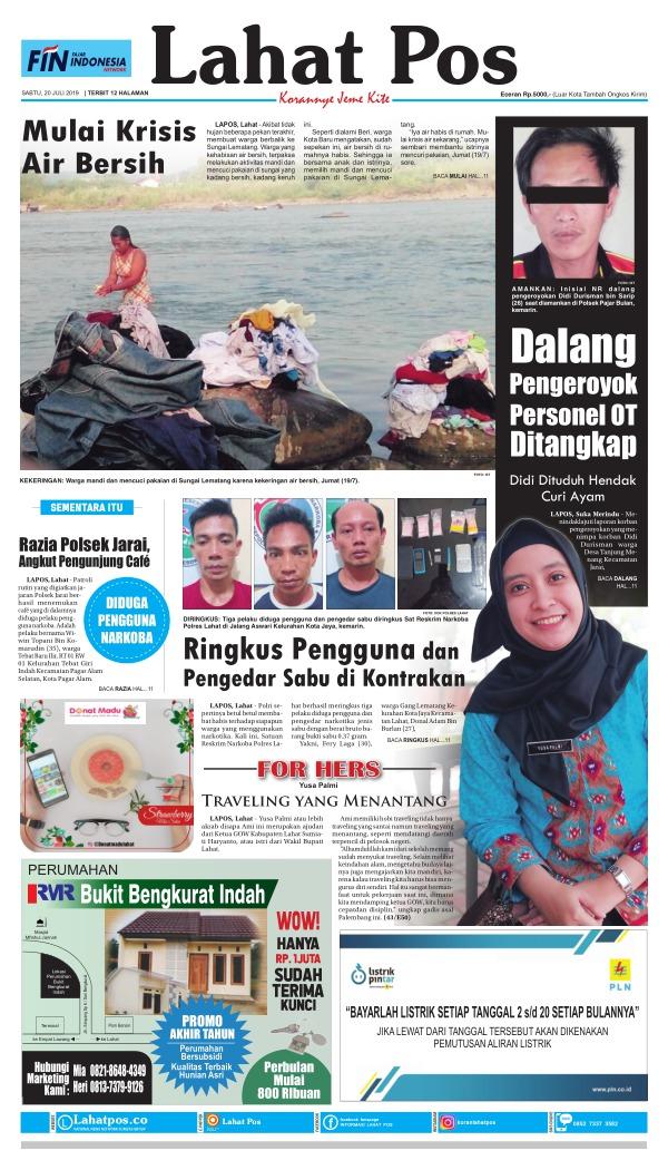 Koran Lahat Pos - Edisi 20 Juli 2019