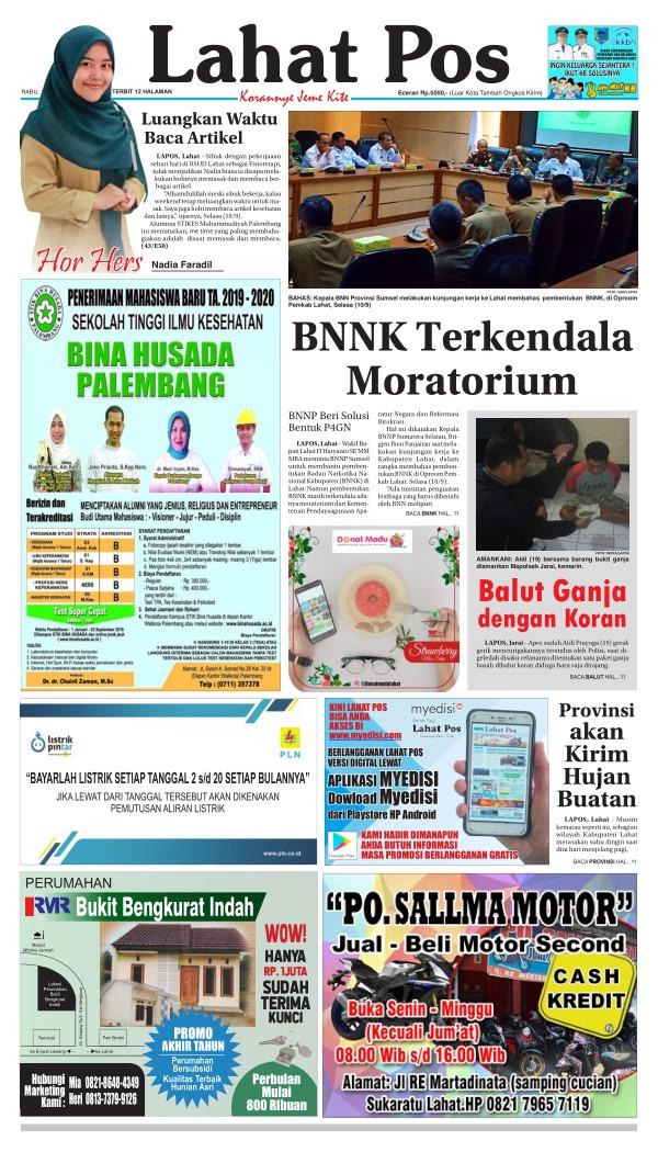 Koran Lahat Pos - Edisi 11 September 2019