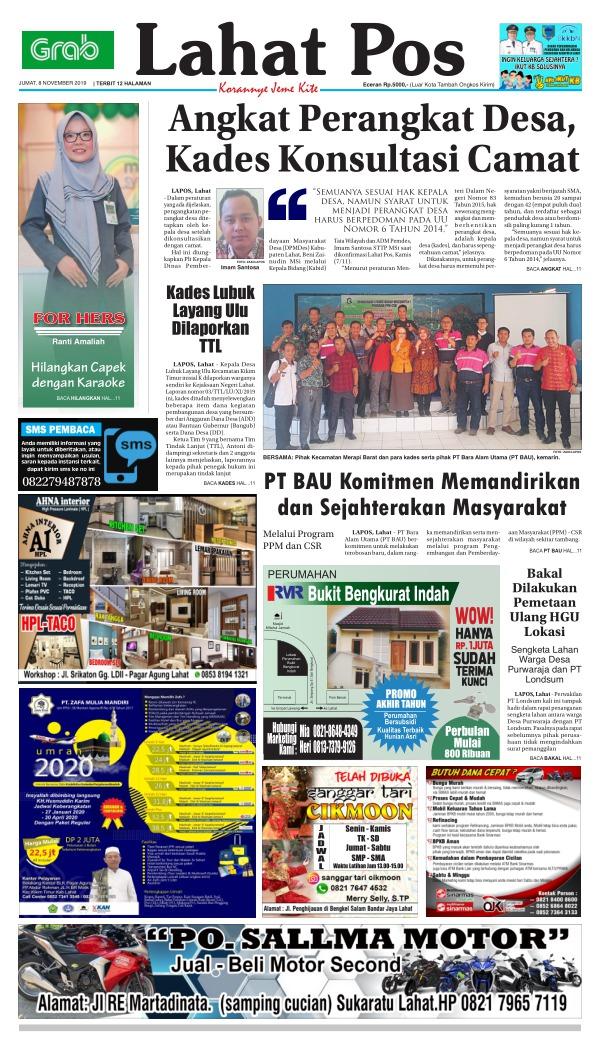 Koran Lahat Pos - Edisi 8 November 2019