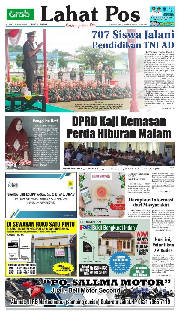 Koran Lahat Pos - Edisi 3 Desember 2019