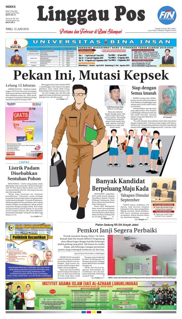 Koran Linggau Pos - Edisi 12 Juni 2019