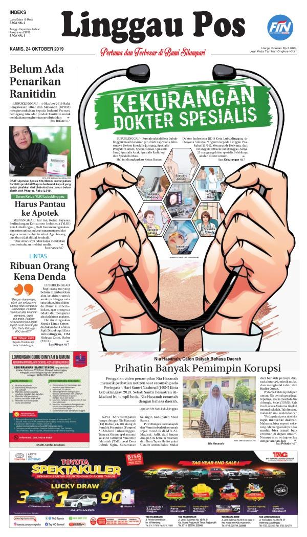 Koran Linggau Pos - Edisi 24 Oktober 2019