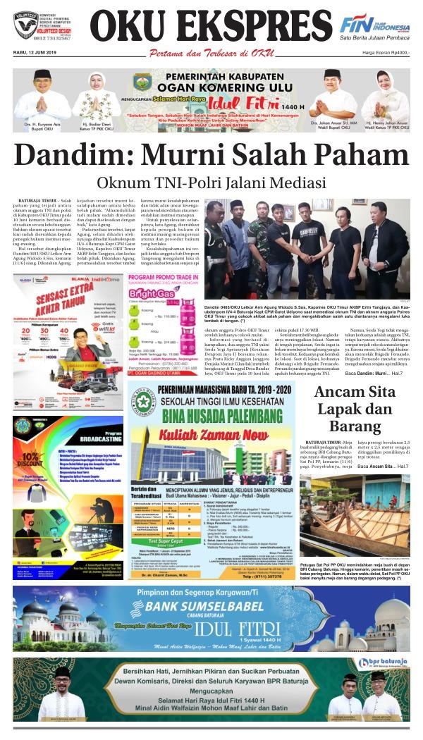Koran Oku Ekspres - Edisi 12 Juni 2019