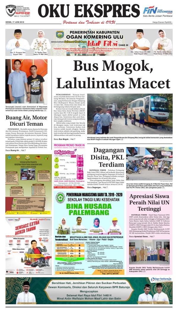 Koran Oku Ekspres - Edisi 17 Juni 2019