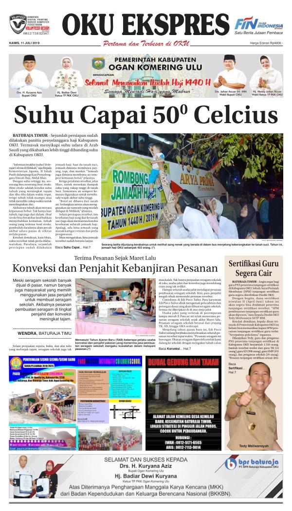 Koran Oku Ekspres - Edisi 11 Juli 2019