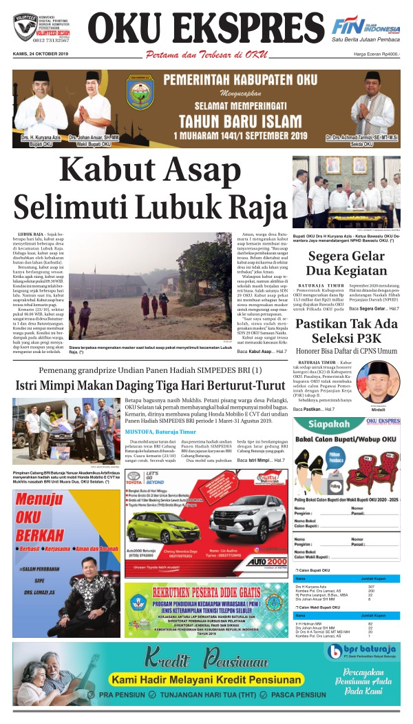 Koran Oku Ekspres - Edisi 24 Oktober 2019