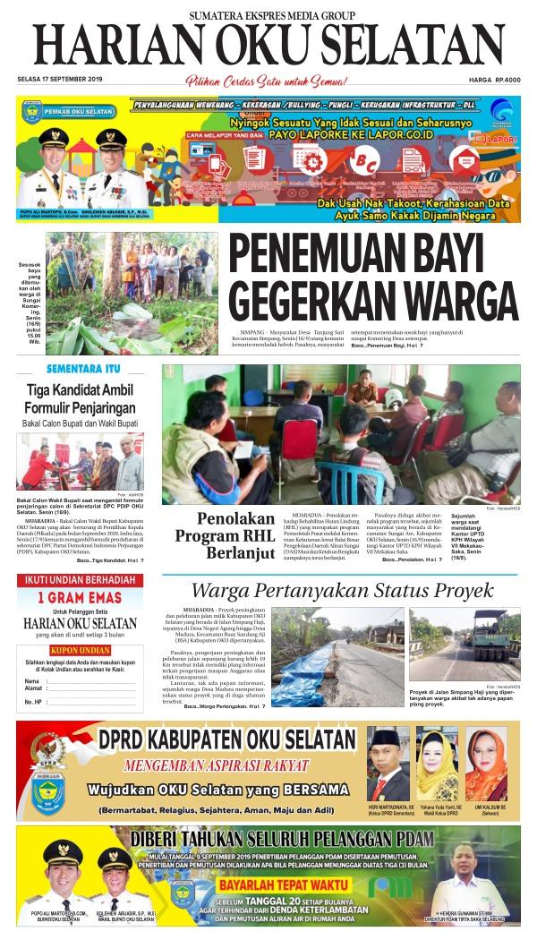Koran Harian Oku Selatan - Edisi 17 September 2019