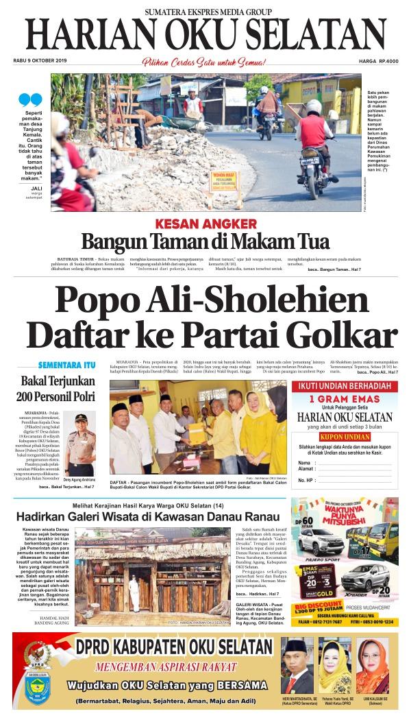 Koran Harian Oku Selatan - Edisi 9 Oktober 2019