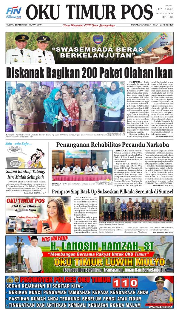 Koran Oku Timur Pos - Edisi 18 September 2019