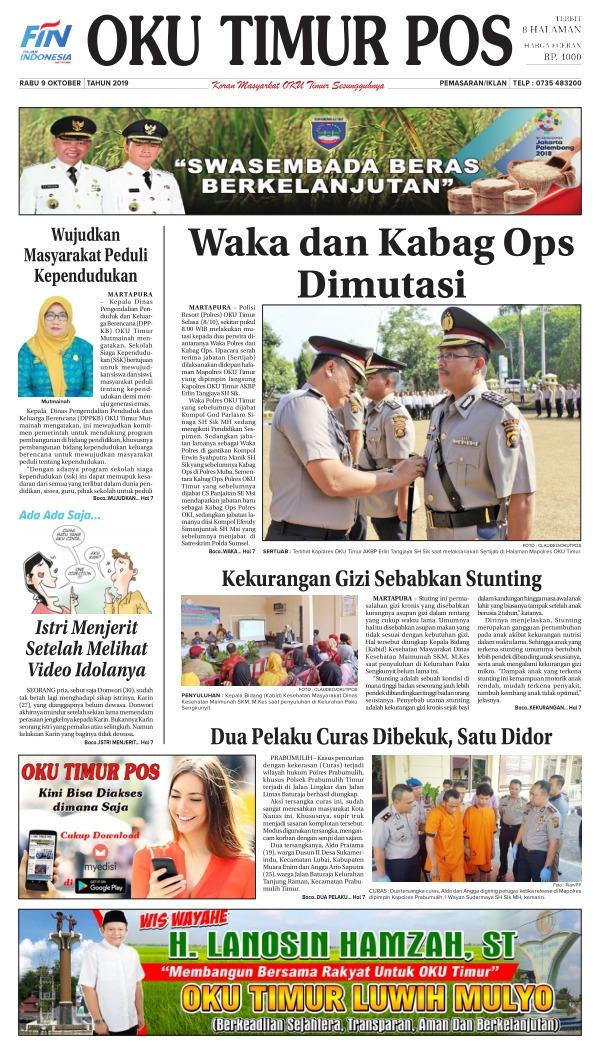 Koran Oku Timur Pos - Edisi 9 Oktober 2019