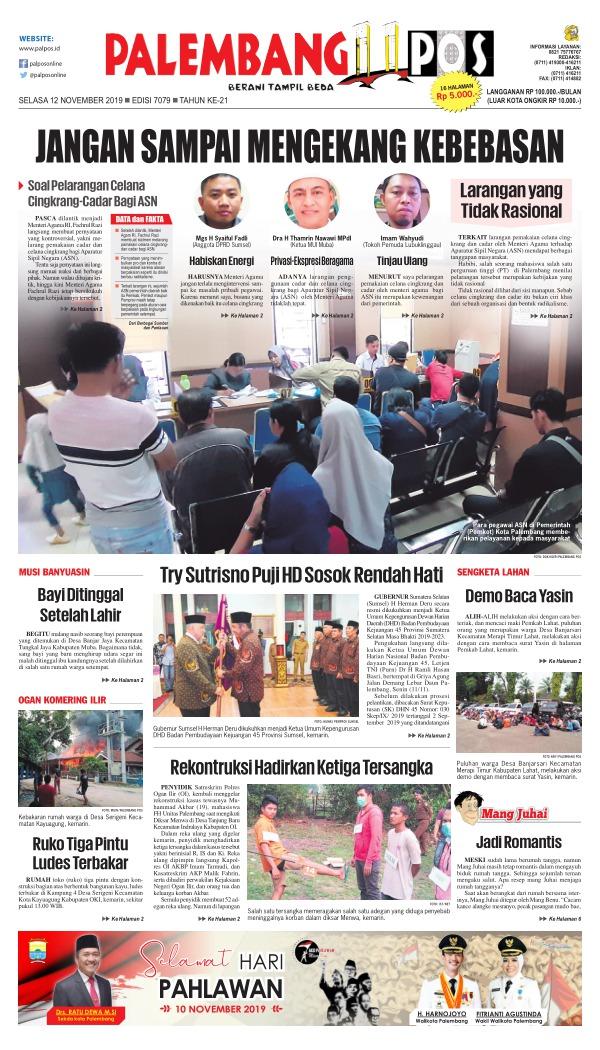 Koran Palembang Pos - Edisi 12 November 2019