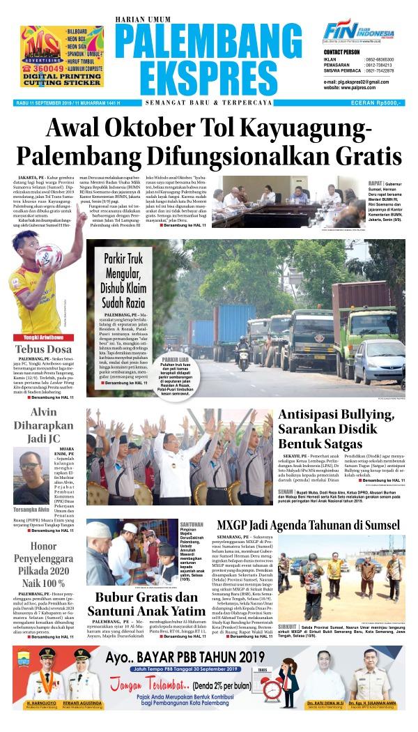 Koran Palembang Ekspres - Edisi 11 September 2019
