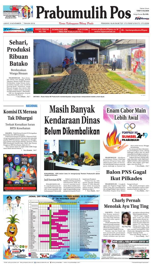 Koran Prabumulih Pos - Edisi 8 November 2019