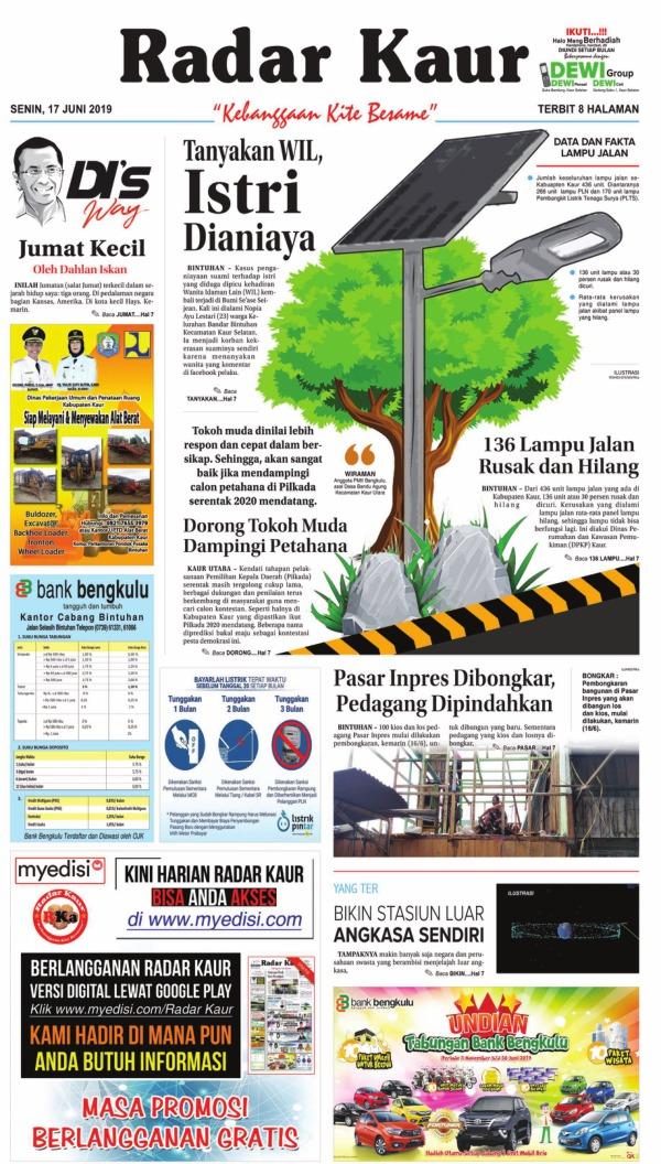 Koran Radar Kaur - Edisi 17 Juni 2019