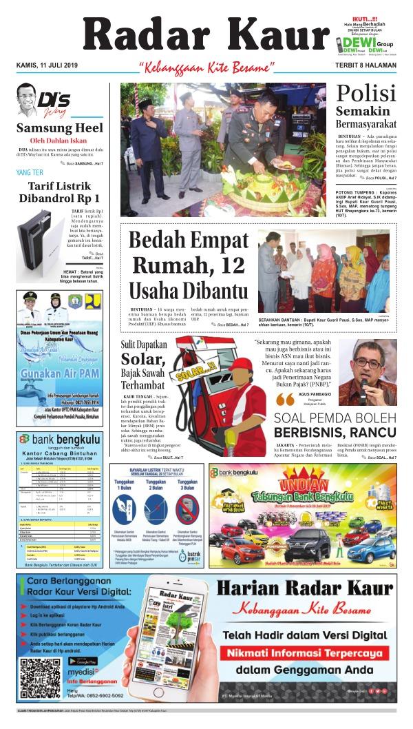 Koran Radar Kaur - Edisi 11 Juli 2019