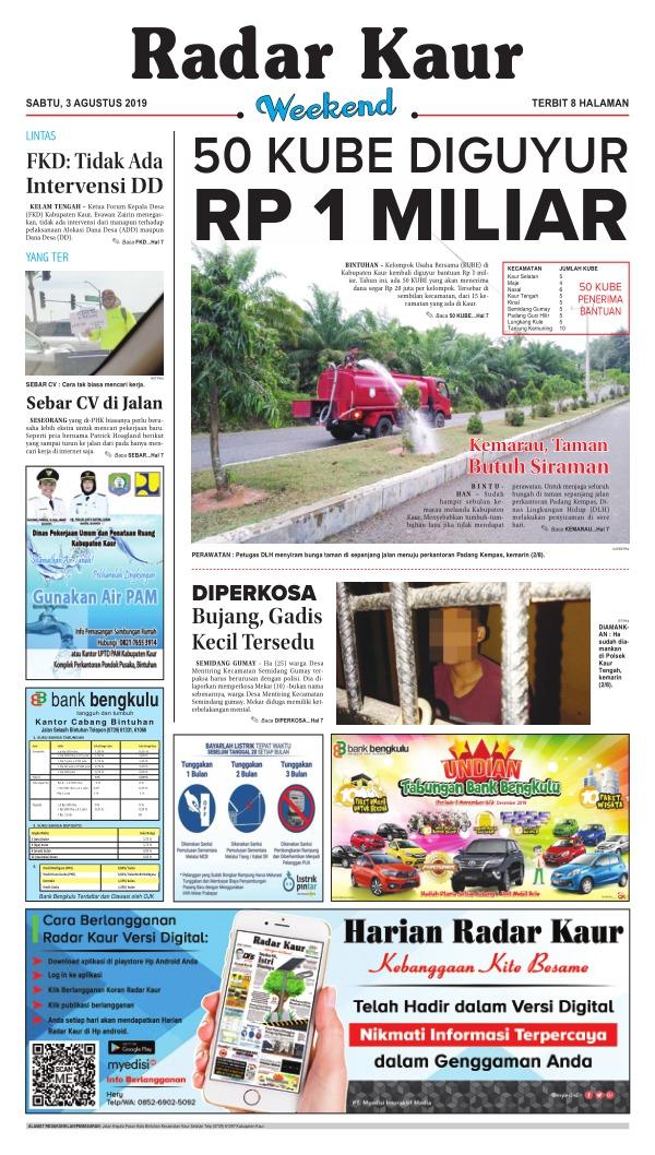Koran Radar Kaur - Edisi 3 Agustus 2019