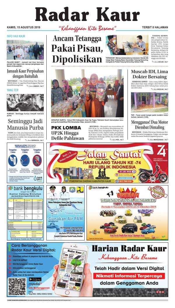 Koran Radar Kaur - Edisi 15 Agustus 2019