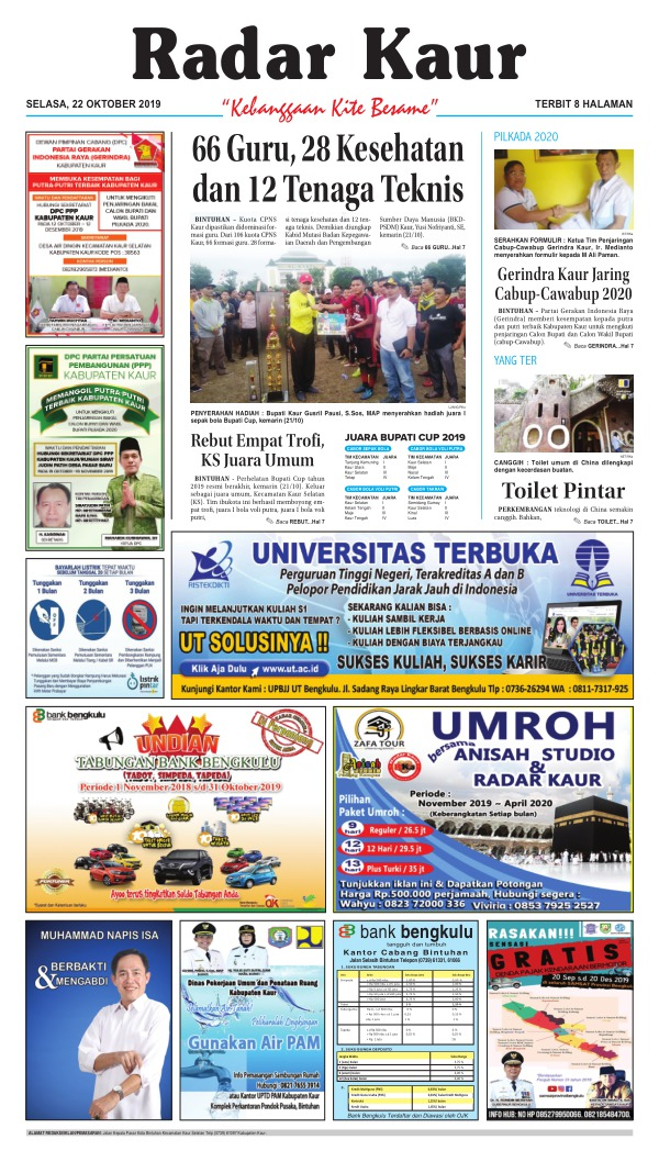 Koran Radar Kaur - Edisi 22 Oktober 2019