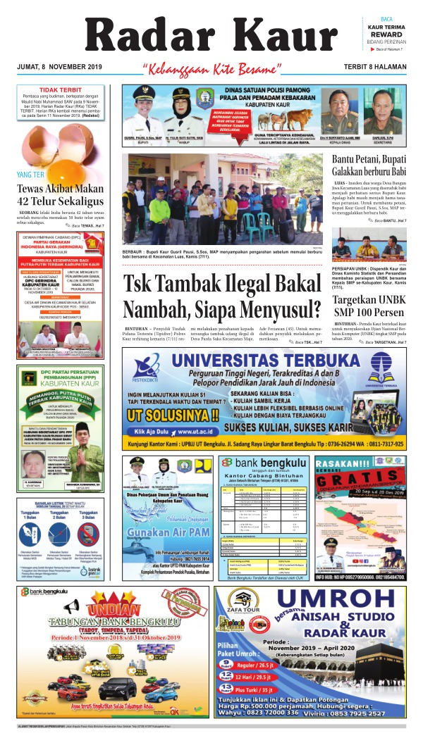Koran Radar Kaur - Edisi 8 November 2019