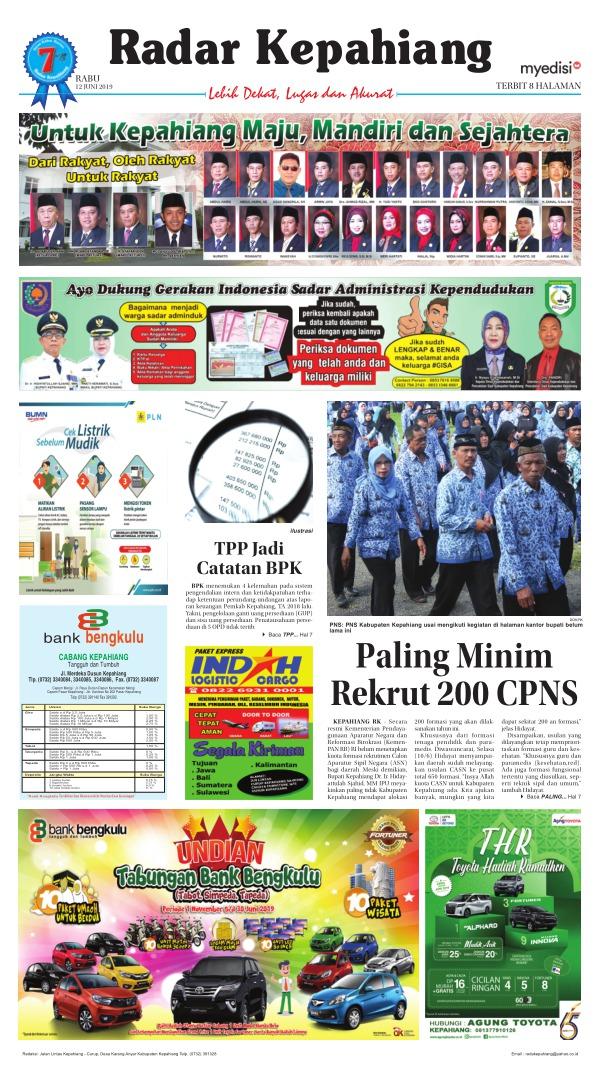 Koran Radar Kepahiang - Edisi 12 Juni 2019