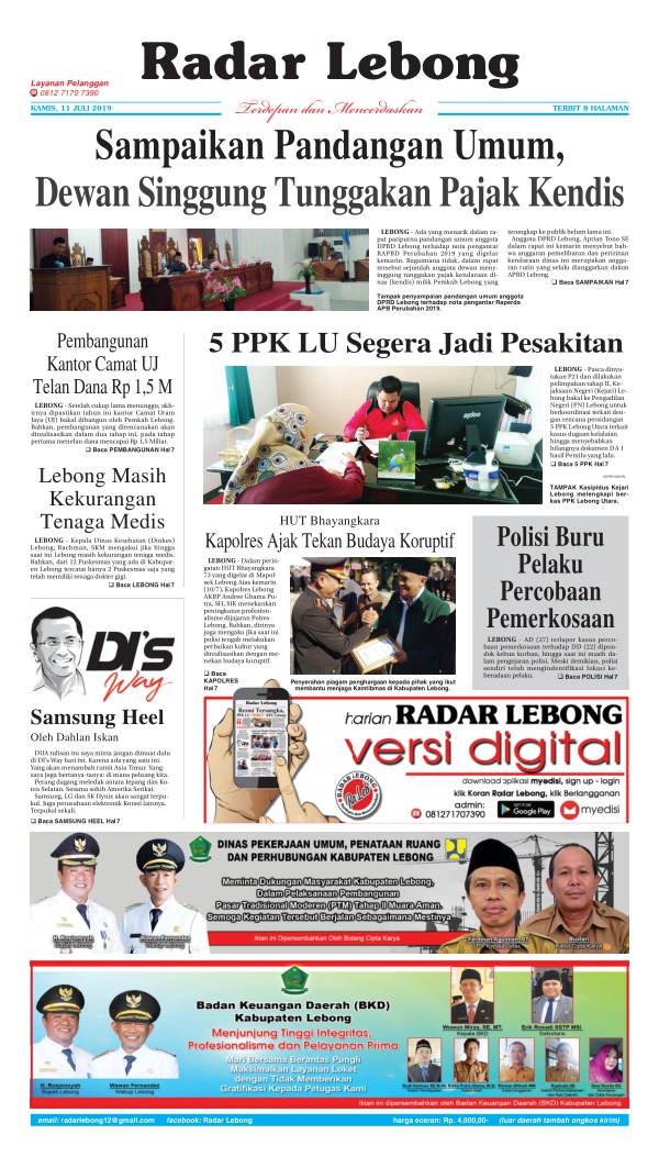 Koran Radar Lebong - Edisi 11 Juli 2019