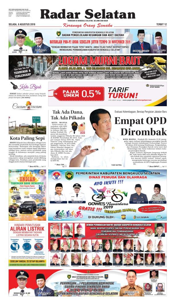Koran Radar Selatan - Edisi 6 Agustus 2019