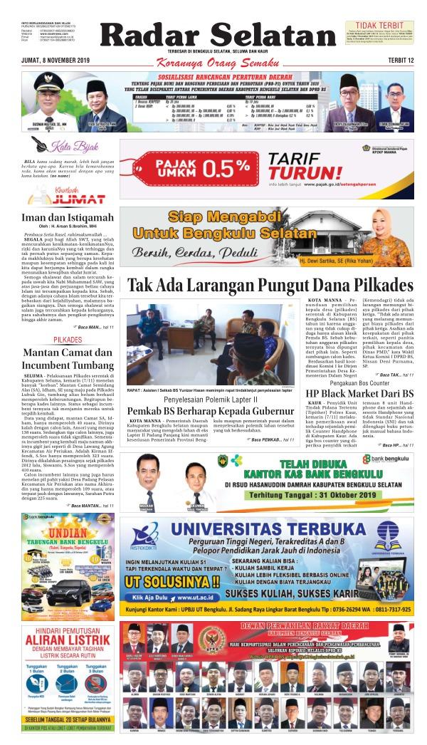 Koran Radar Selatan - Edisi 8 November 2019