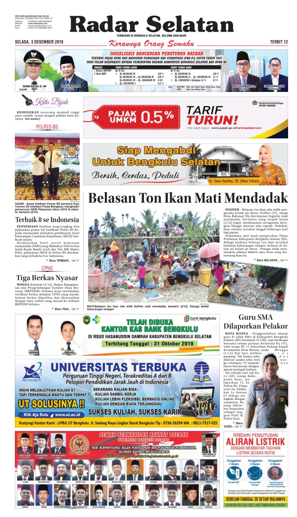 Koran Radar Selatan - Edisi 3 Desember 2019