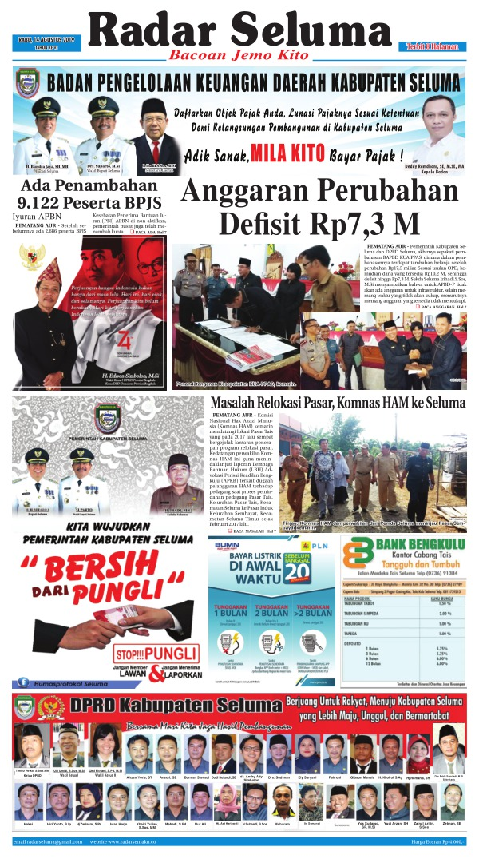 Koran Radar Seluma - Edisi 14 Agustus 2019