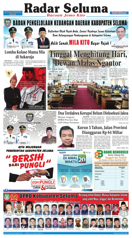 Koran Radar Seluma - Edisi 20 Agustus 2019