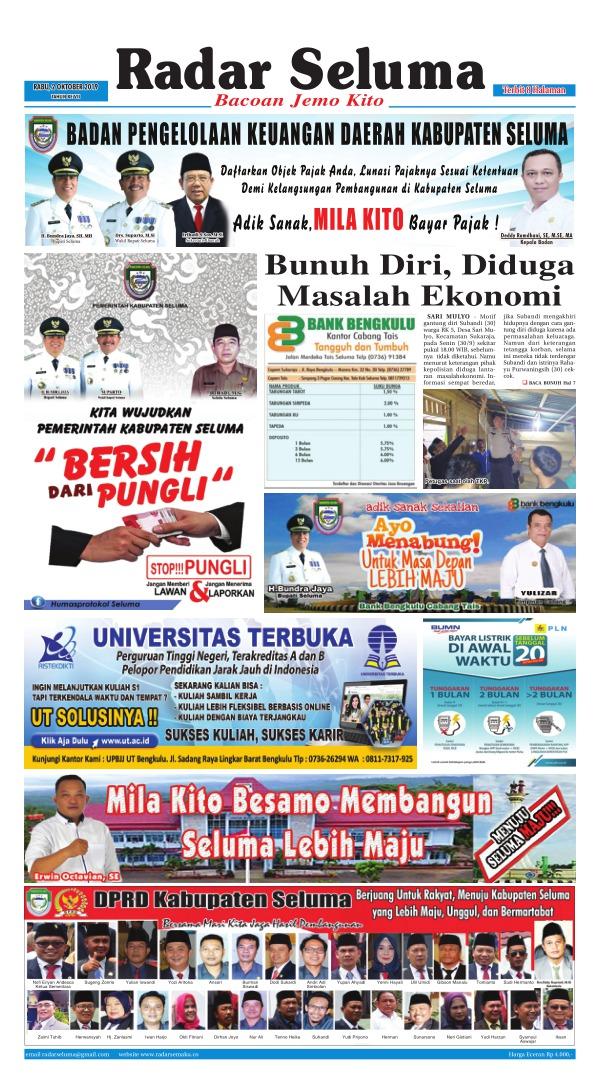 Koran Radar Seluma - Edisi 2 Oktober 2019