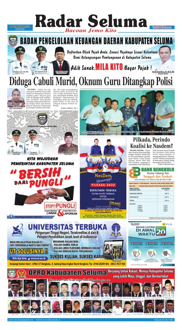 Koran Radar Seluma - Edisi 9 Oktober 2019